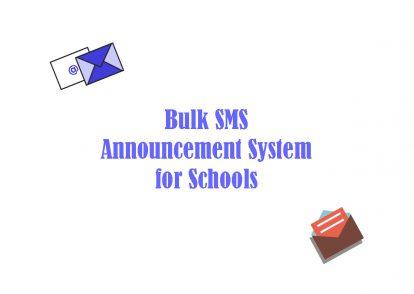Bulk SMS School